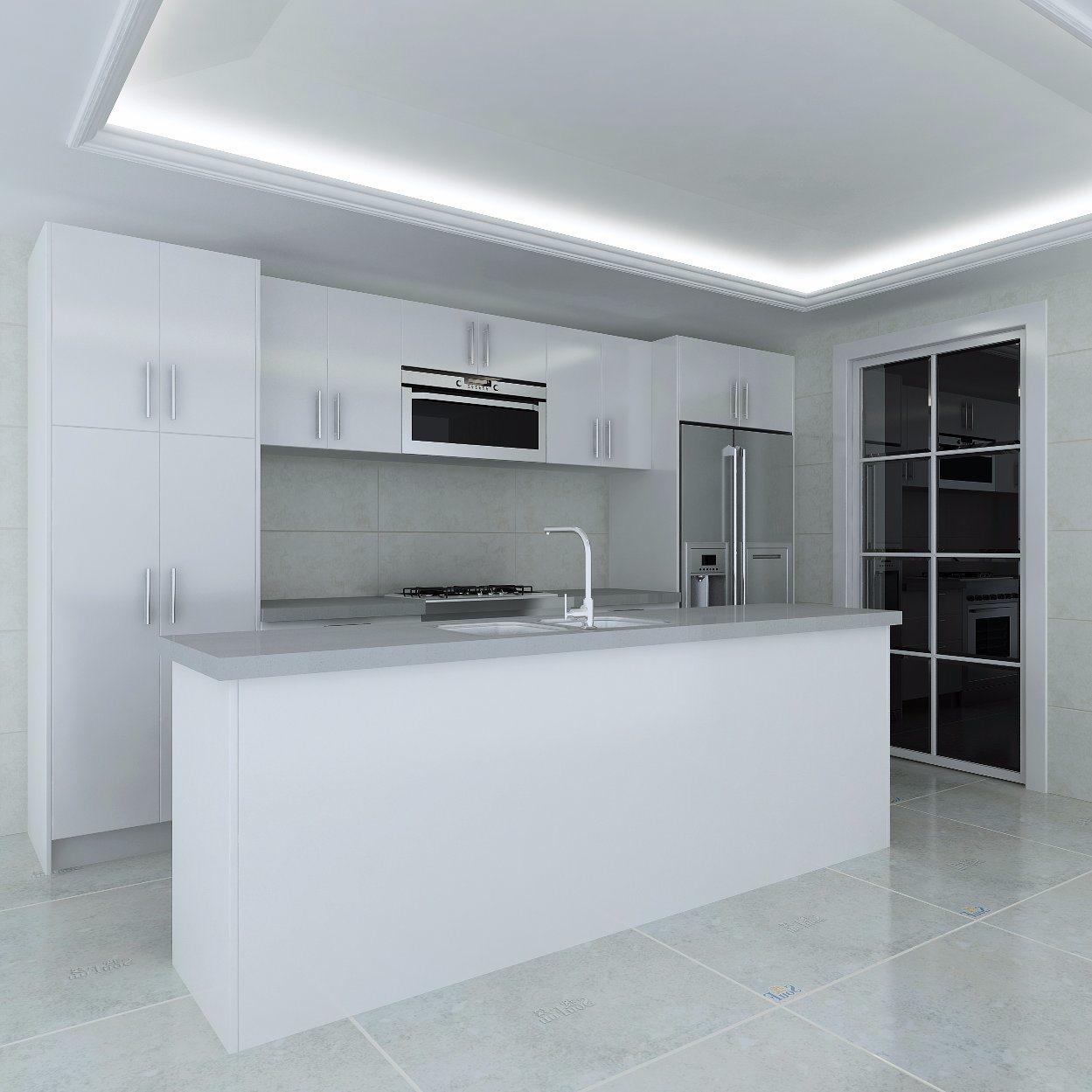 China Luxury Kitchen Customized High Gloss Lacquer Kitchen Cabinets ...