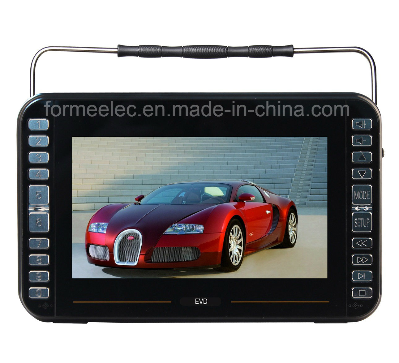10.1 Inch MP3 MP4 MP5 Portable DVD Player with ISDB-TV
