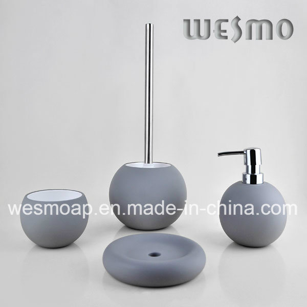 China Golf Ball Shape Porcelain Bathroom Accessories Set WBCA - Golf bathroom accessories