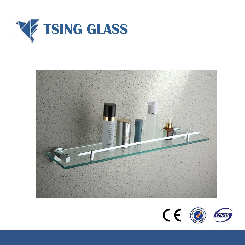 China Tempered Toughened Shower Corner Shelf Glass For