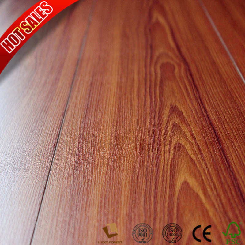 China Pressed U Groove 12mm Trafficmaster Laminate Flooring Hardwood Building Material