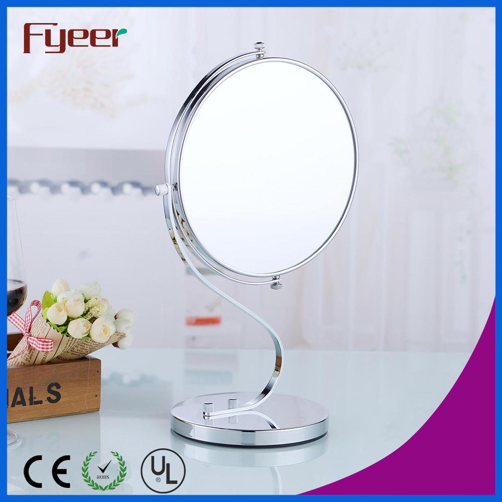China Fyeer Modern Round Double Side Desktop Brass Makeup Mirror M5208