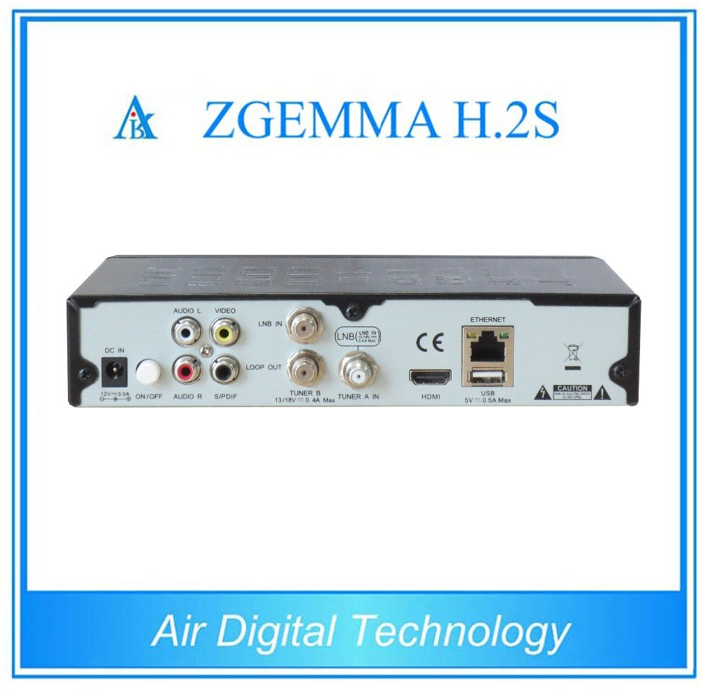 Satellite Receiver Zgemma H. 2s with Dual Core DVB-S2+DVB-S2 Twin Tuner pictures & photos