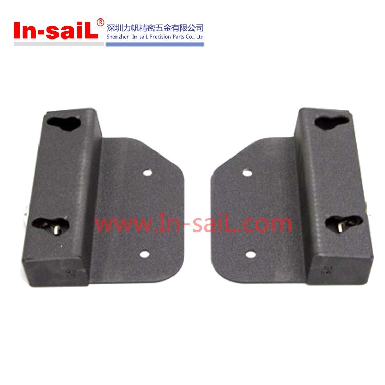 Black Plastic Brackets Manufacturing Hardware in China