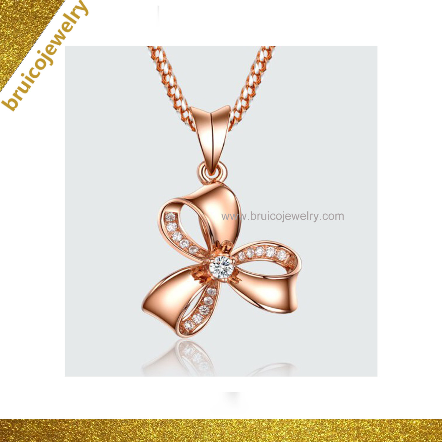 China Trendy Jewelry Inlaid Diamond Necklace Silver Designs Modern Gold Ring Necklace For Girls China Fashion Jewelry And Pendant Jewelry Price