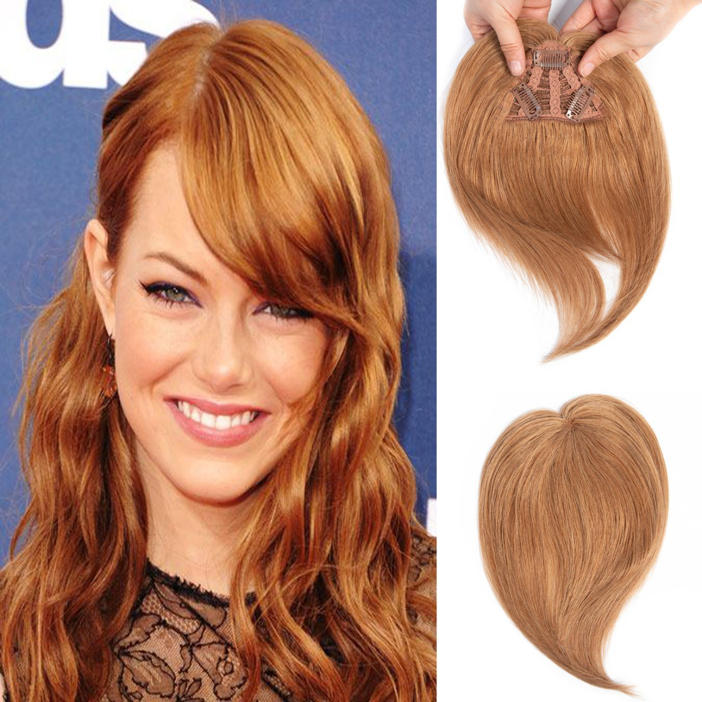 Wholesale 10A Grade Clip in Hair Bang 100% Human Hair Fringe Blonde Hair Pieces pictures & photos