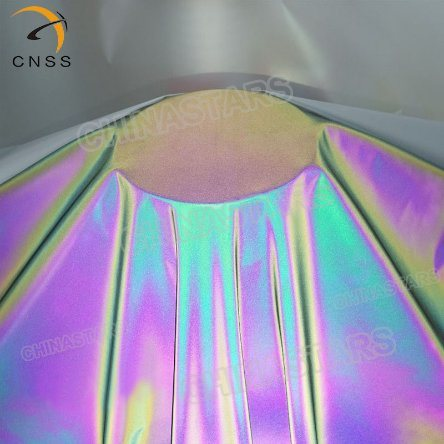 [Hot Item] Sample Free Cheap Chinastars Polyester Rainbow/Iridescent/Neon  Reflective Material Cloth Fabric for Fashion Wear/Outdoor Clothing Jacket