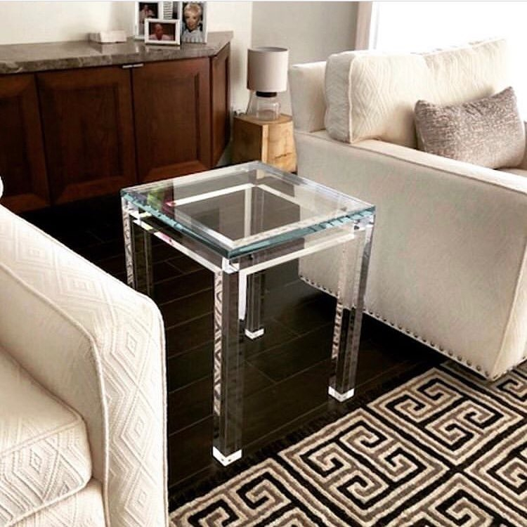 China Crystal-Clear Round Table#Small Coffee Table#Lucite ...