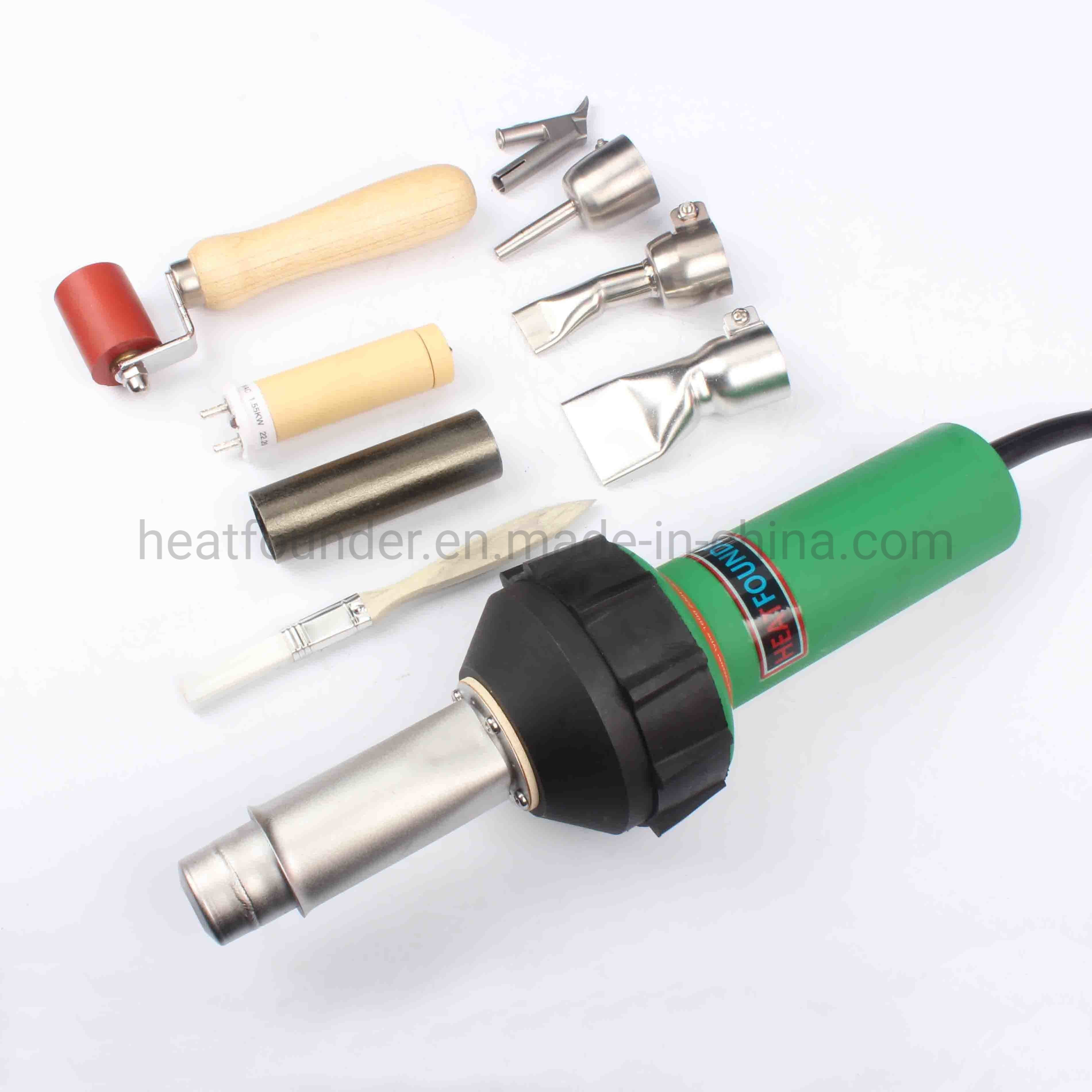 China 1600w Portable Hot Air Blower Hot Air Plastic Welding Gun For Banner Tarpaulin Geomembrane Repairing Patching Welding China Welding Gun Pvc Welder