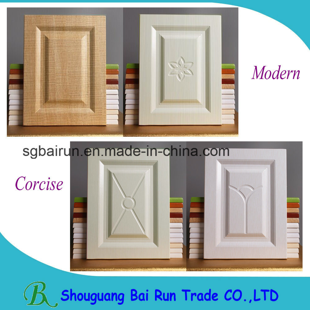 Kitchen Furniture Part PVC Film MDF Kitchen Cabinet Door pictures & photos