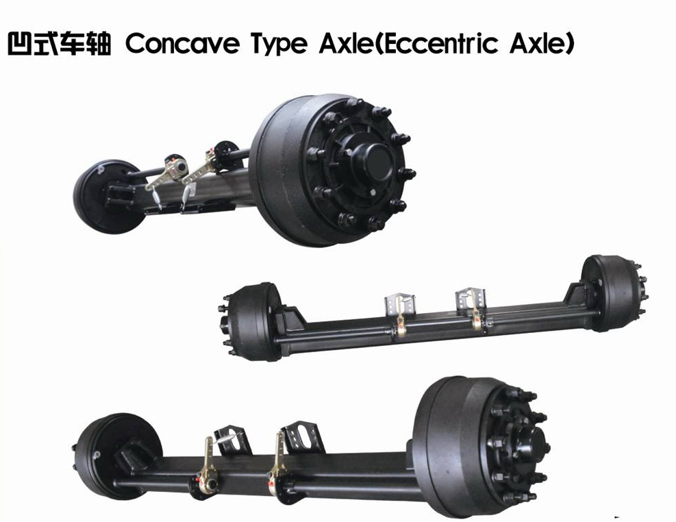Trailer Parts Axle Concave Type Axle (Eccentric Axle)