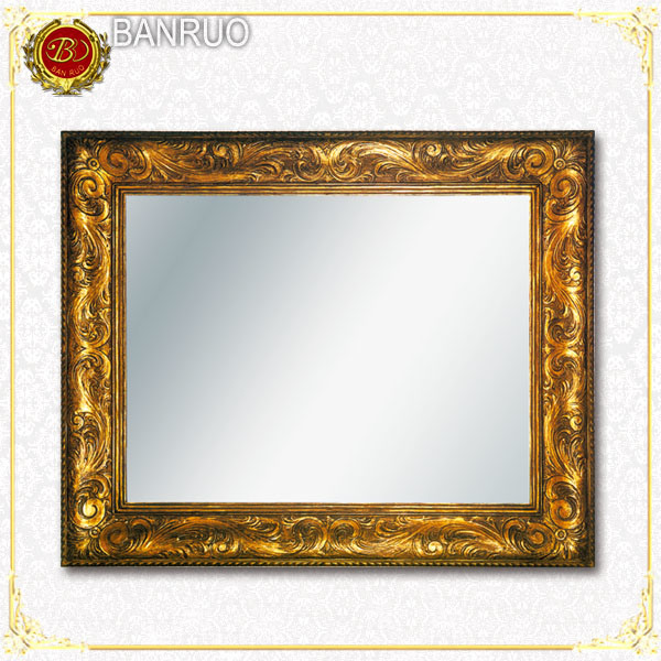 China Antique Gold Leaf Frame Wall Mirror (PUJK09-F19) - China ...