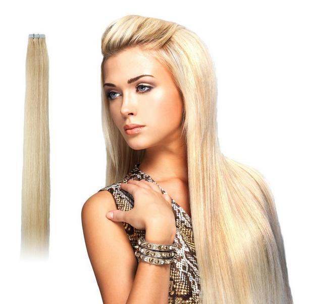 China Scarlett Glue Tape Straight Brazilian Virgin Remy Human Hair