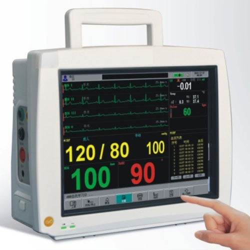 12.1 Inch Touch Screen Patient Monitor ECG Monitor Cardiac Monitor Vital Moniotor with CE Mark (8000H)
