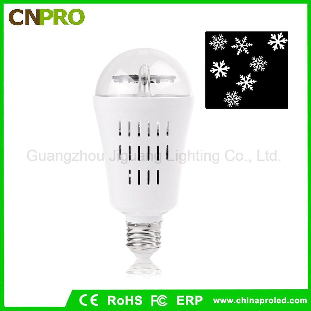 E27 4W LED Moving Snowflake Laser Projector Lamp Bulb for Christmas pictures & photos