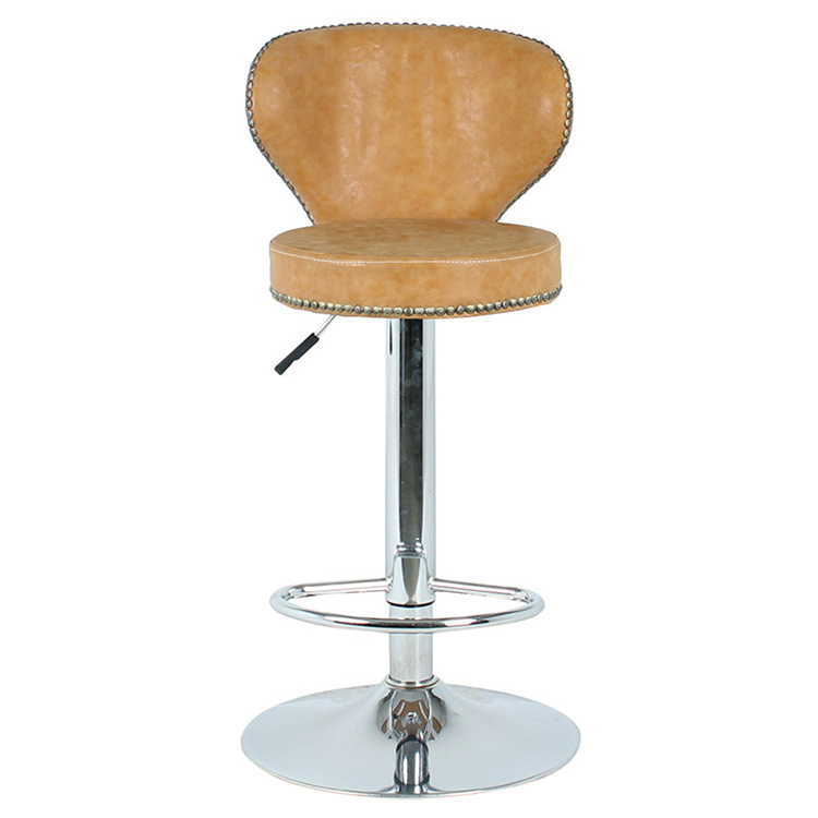 Miraculous Hot Item Faux Leather Bar Stool Modern Swivel Dining Arm Chair Chrome Base Bar Stool Onthecornerstone Fun Painted Chair Ideas Images Onthecornerstoneorg