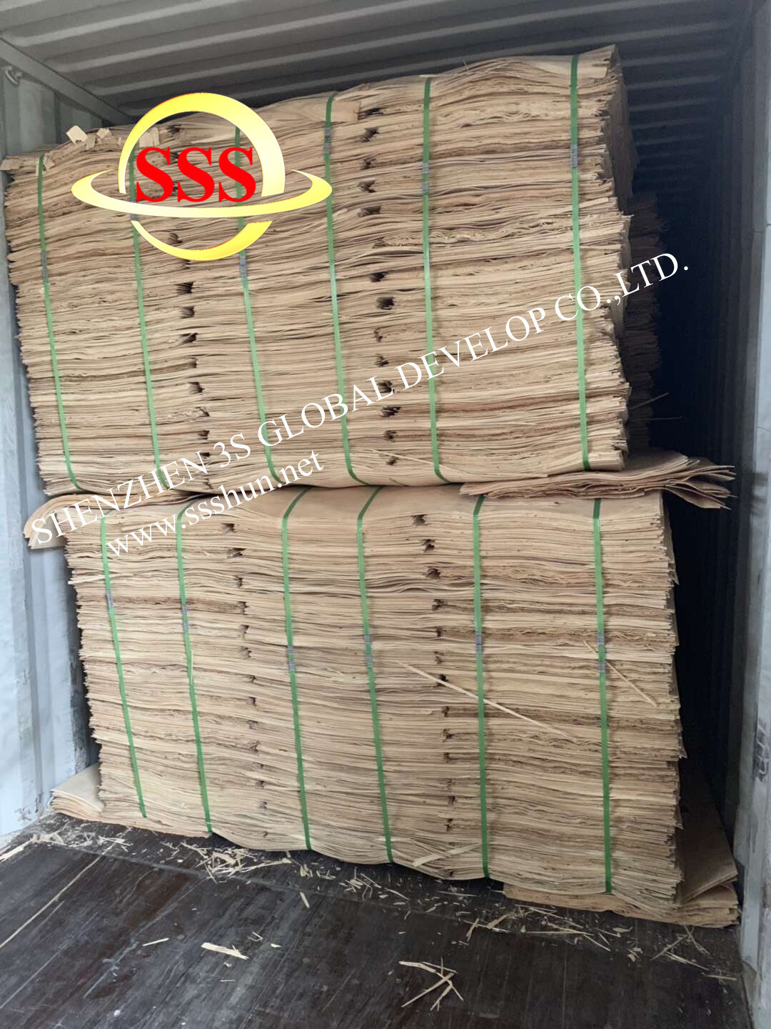 Plant commercial products from plywood, veneer, plates