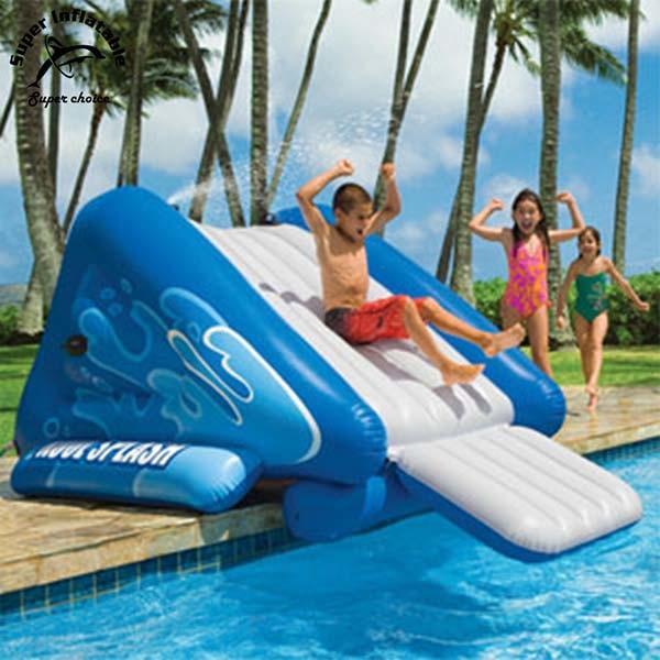 China Children Superslide Big Inflatable Inground Swimming Pool Water Slide China Inflatable Pool Slides For Inground Pools And Giant Inflatable Water Slide Price