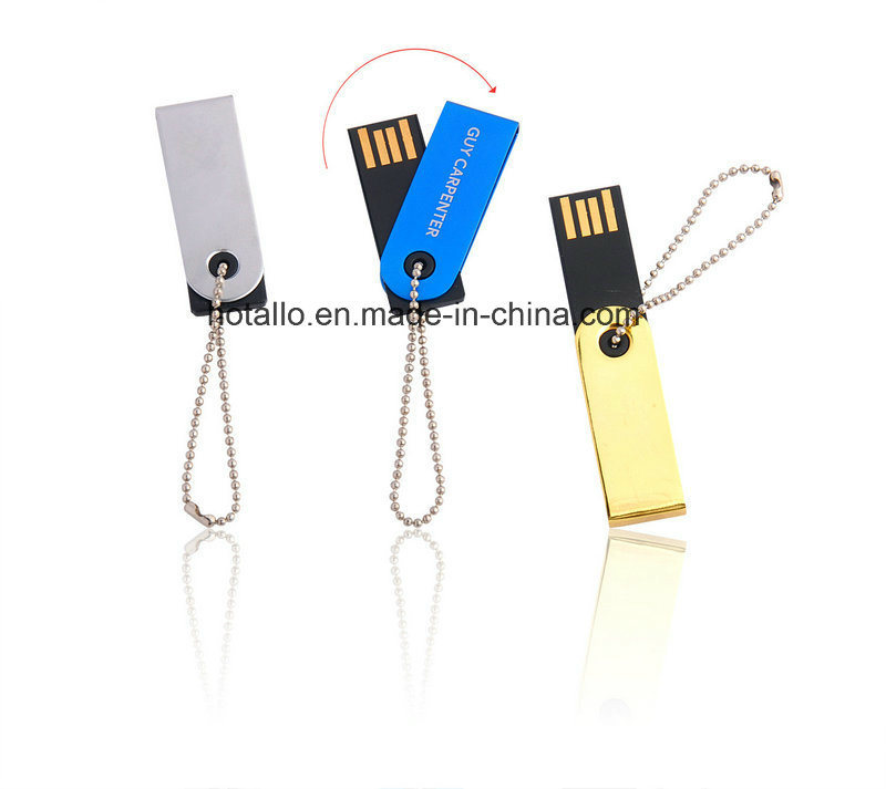 Colorful Swivel USB Flash Drive with Free Logo with Keychain pictures & photos