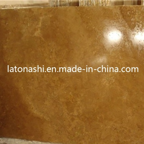 China Natural Dark Brown Stone Noce Travertine Floor Tile For Paver