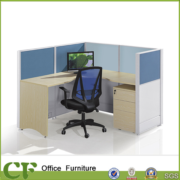 China Modern Single Office L Shape Desk With High Partition   China Office  4 Person Partition, Modular Office Partition