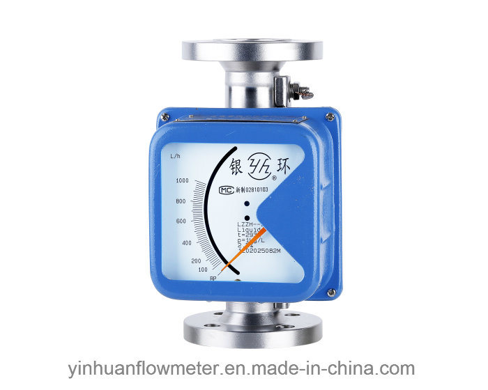 Lzzh Mechanical Pointer Indicating Flange Type Metal Tube Float Variable Area Flowmeter