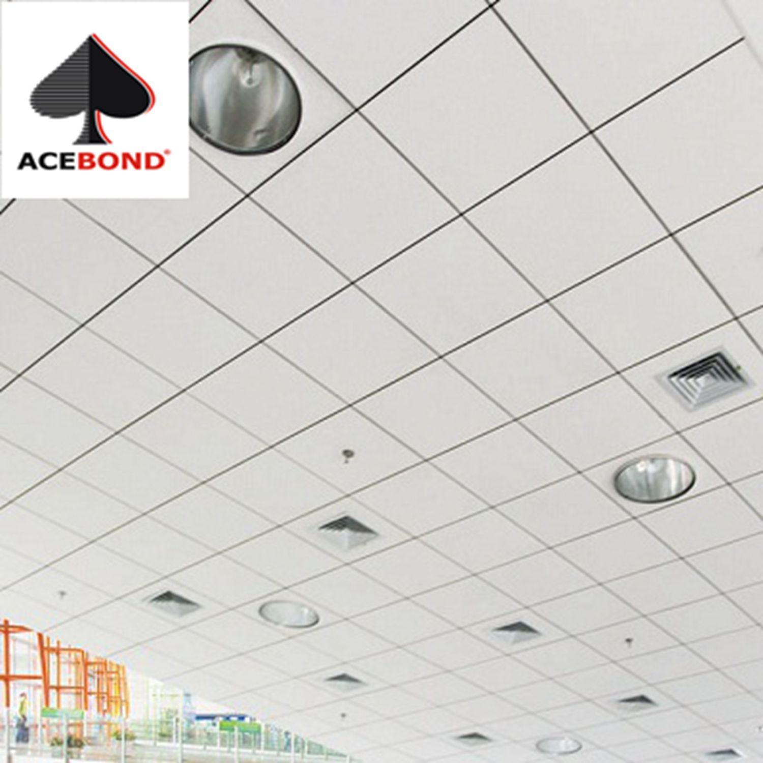 China Topace Hot Sale 075mm Thickness Aluminum Ceiling Tiles
