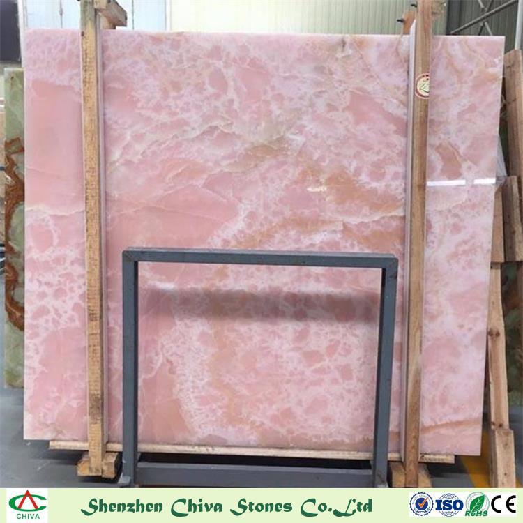 China Decoration Materials Natural Stones Pinkred Onyx Slabstiles