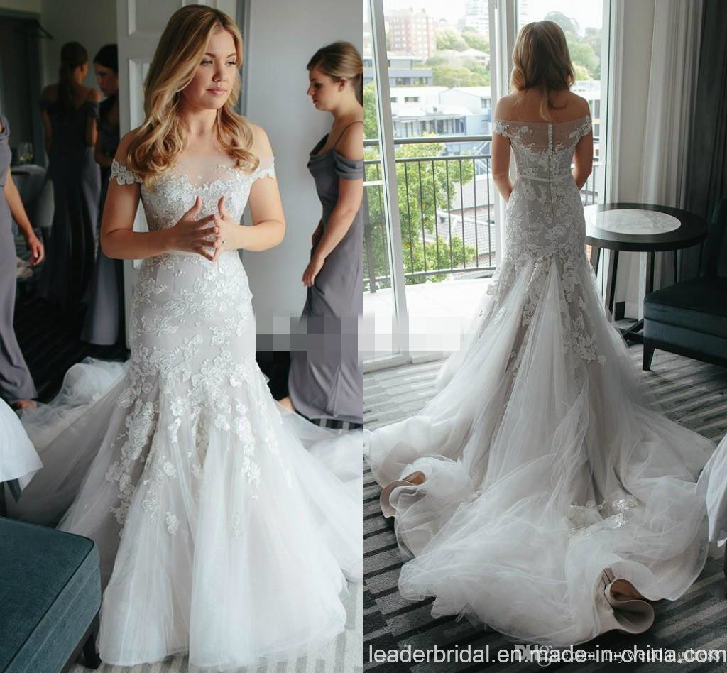 china mermaid bridal gowns off shoulder lace wedding dresses