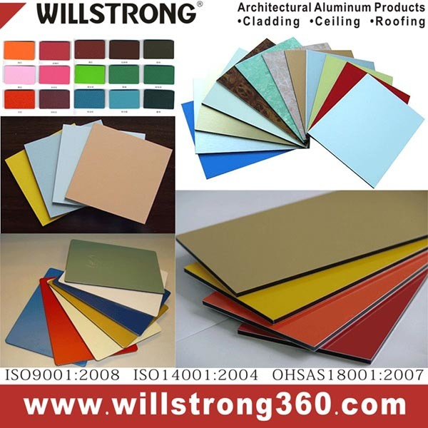 PVDF Aluminum Composite Panel For Advertising Material Sign Display Stand Banner