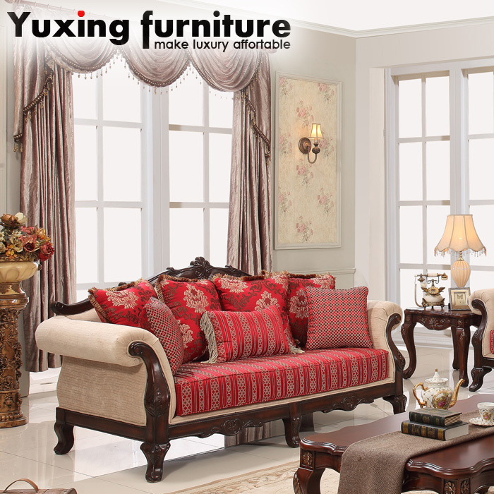 China Antique Living Room Couch American Classic Sofa Love ...