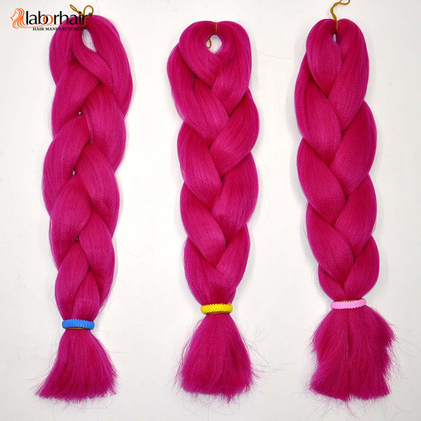China Red Hair Braid 100 Synthetic Hair Kanekalon Braid Hair