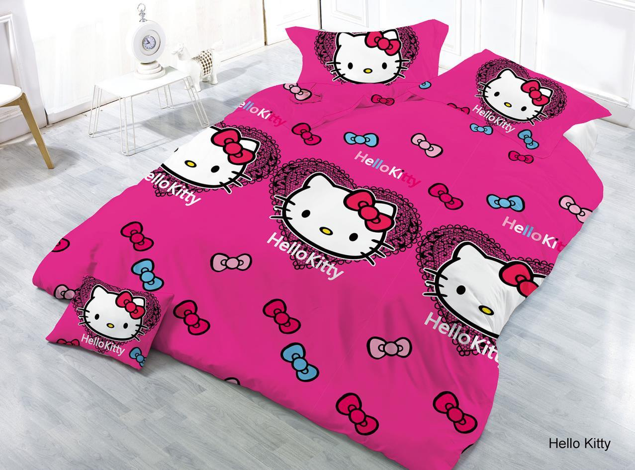 China Wholesale Market Rotary Cartoon Print 3d Hello Kitty Bedding Set China Bedding Set And Cartoon Bedding Price