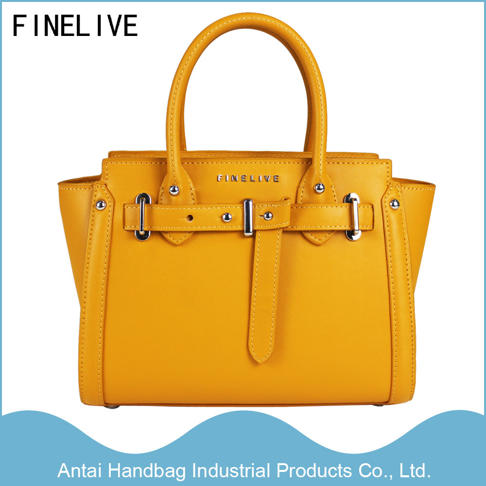 China 2017 Fashion Yellow Pu Leather Designer Women Lady Handbags At 0006a Label Finelive