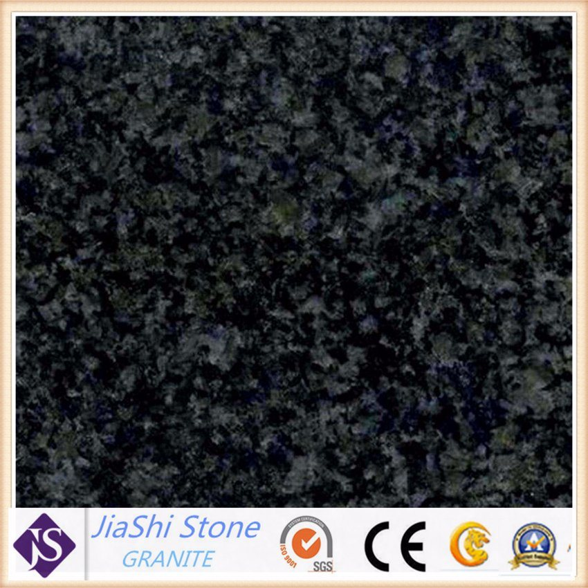 China Natural Stone Black Galaxy Granite Slab For Floor Wall Tiles