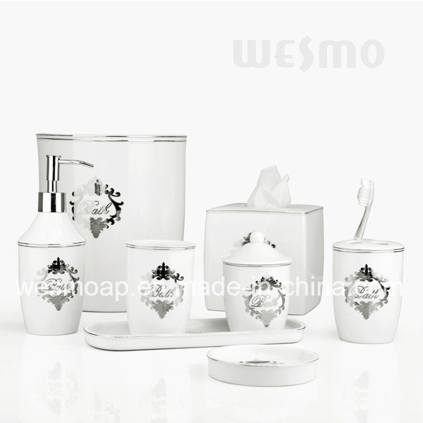 Crackle Glaze Porcelain Bathroom Accessories with Decal (WBC0611A) pictures & photos