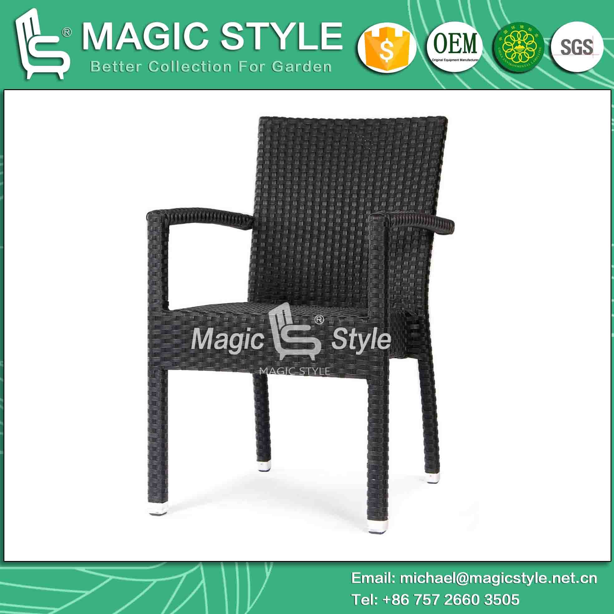 Hot Item Stackable Chair Dining Chair Patio Chair Wicker Hotel Project Coffee Chair Magic Style