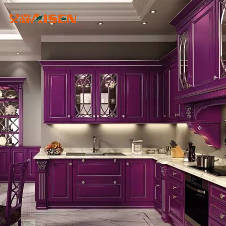 China Top Quality All Solid Wood Kitchen Cabinets Mahogany For America Market Cabinet