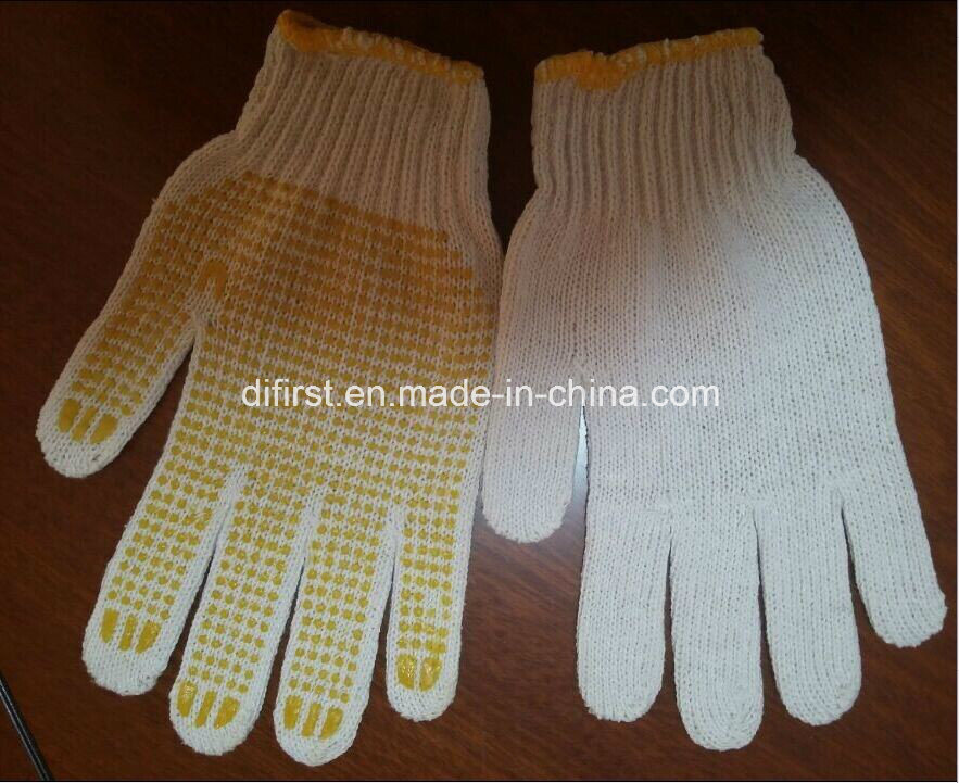 Safety Gloves with PVC DOT