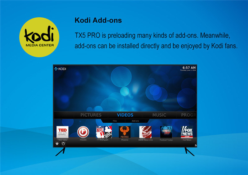 Tx5 PRO Android 6.0 Marshmallow Amlogic S905X 2g 16g Android 6.0 Smart TV Box Quad Core Kodi 16.1media Player 2.4G+5.8g pictures & photos