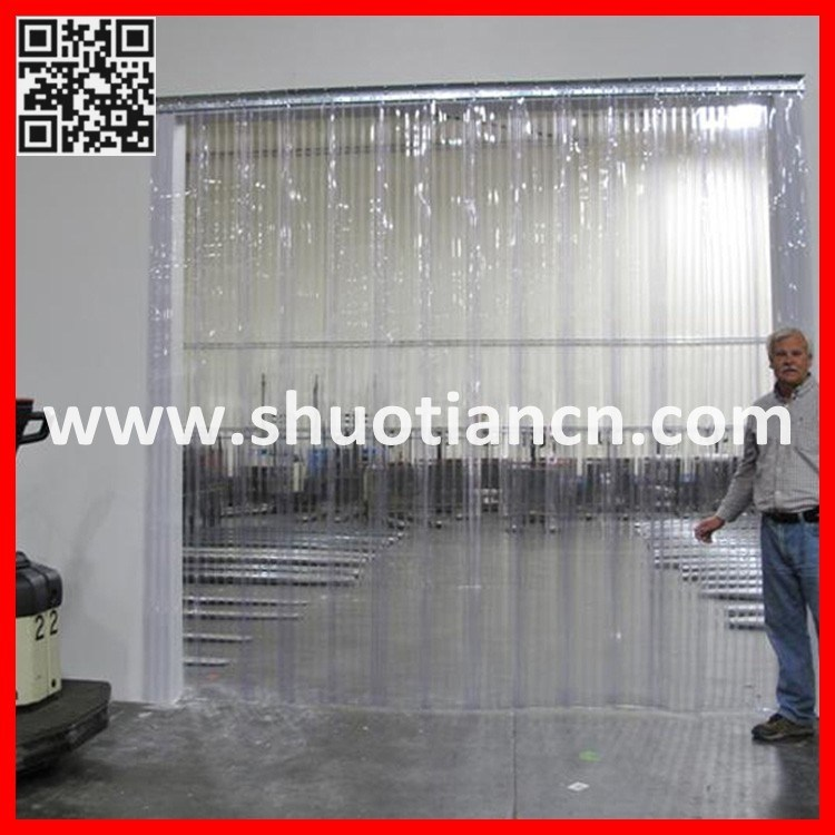 China Cold Room Plastic Air Curtain Strip Door St 004