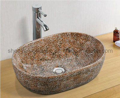 Ceramic Wash Basin Color Bathroom Sink (MG-0019)