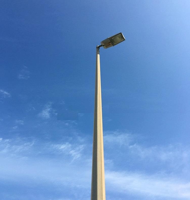 Street Rod Lamps : China single arm led high mast octagonal street lighting