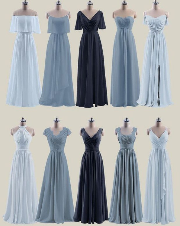 [Hot Item] Long Chiffon Bridesmaid Dresses