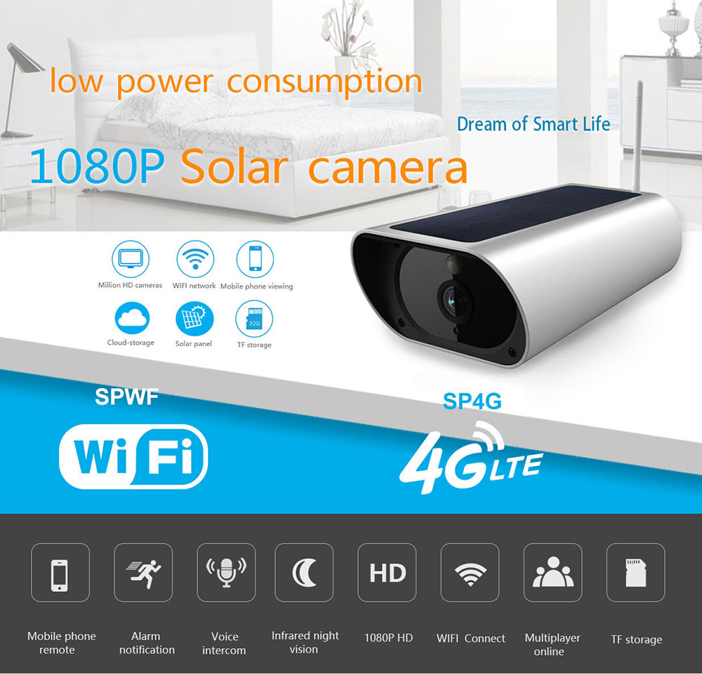 China 4g Ip Camera Battery Operated Outdoor Solar Power