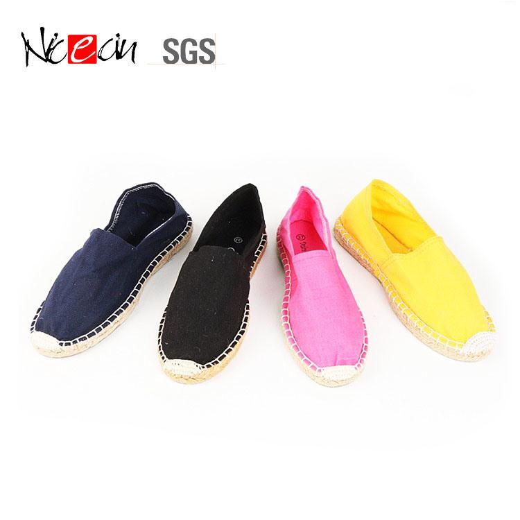 4601b9595 China Wholesale Cheap Natural Hemp Sole Women Flat Canvas Shoes Espadrilles  - China Canvas Shoes, Casual Shoes
