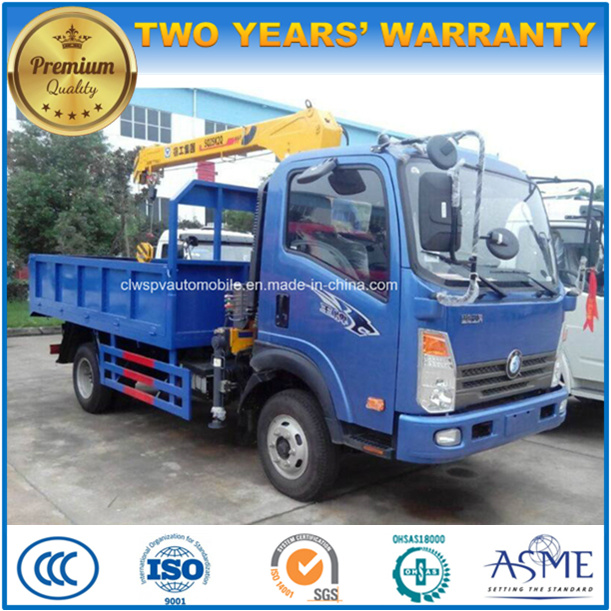 4X2 Sinotruk 3 Tons 3t Truck with Hydraulic Crane for Sale