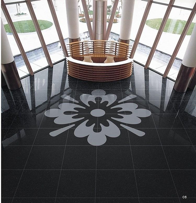 China Factory Super Black Porcelain Tile Lanka 600x600mm Normal