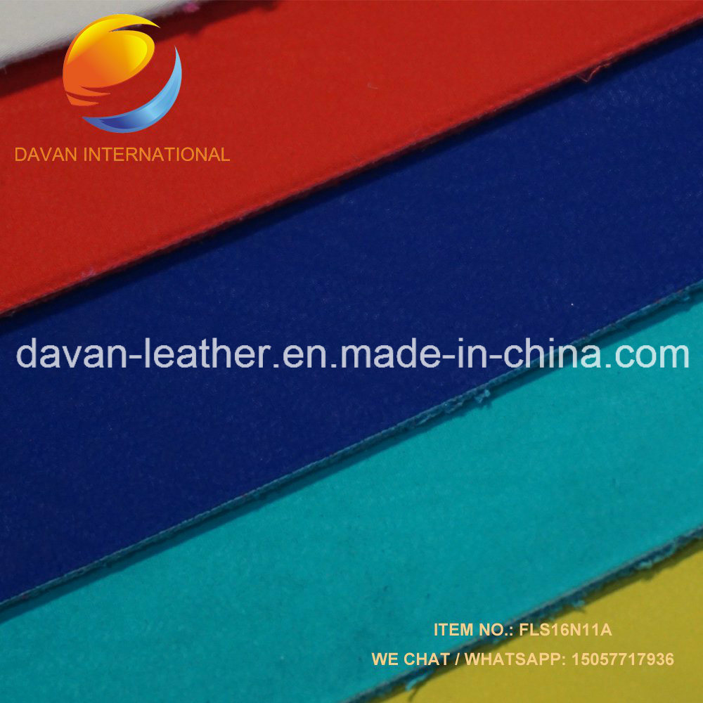 Hot Selling Silky Flocking Surface Imiatition Leather for Lady Shoes Bags Purse