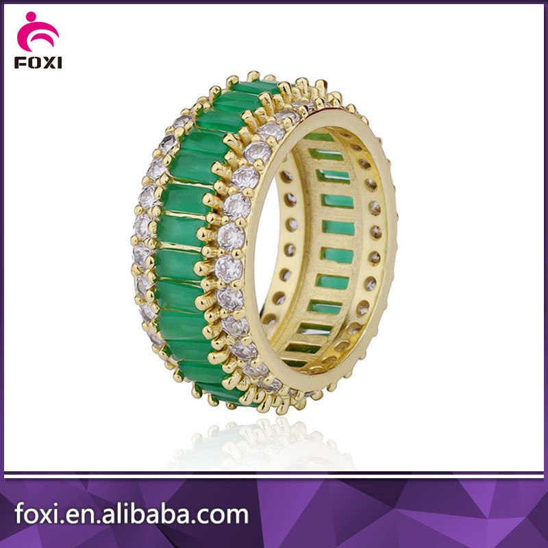 China Factory Supplier Cubci Zirconia New Design Gold Finger Ring ...